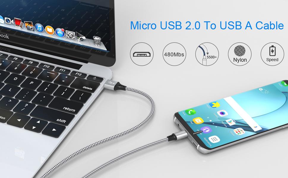 Amazon.com: Joomfeed - Cable micro USB de alta velocidad, 4 ...