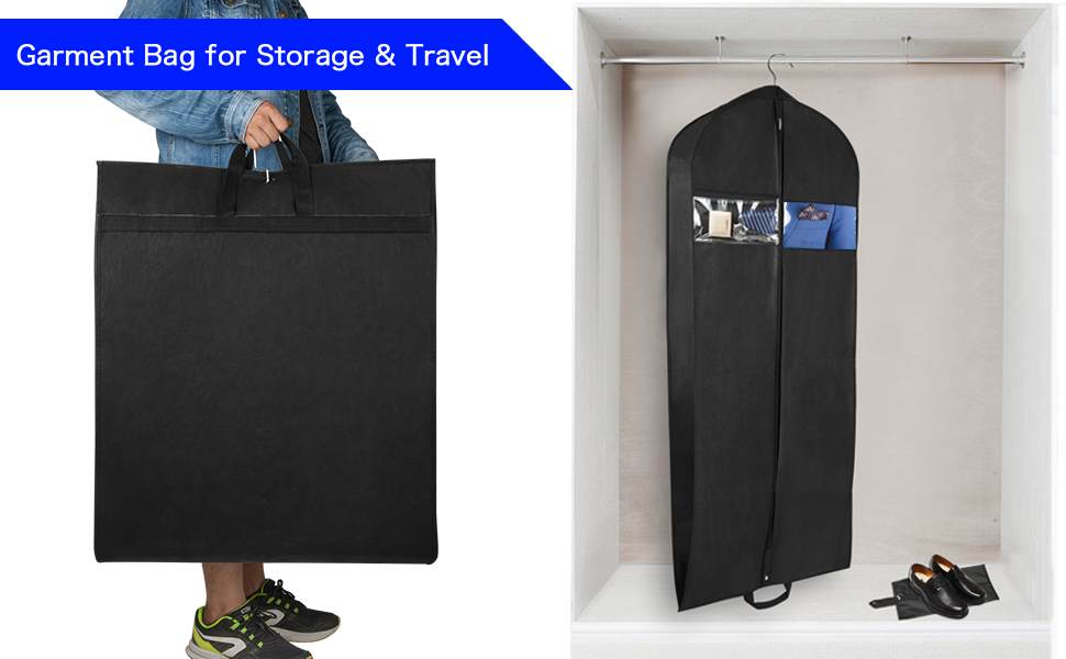 garment bag for storage and travel