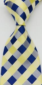 check tie yellow blue