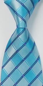 check tie baby blue