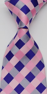 check tie pink purple