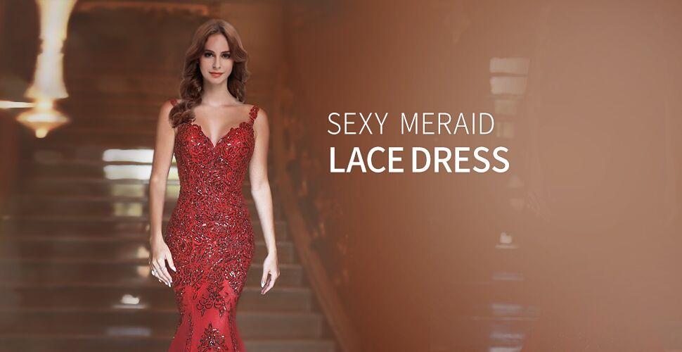 Amazon.com  OYISHA Women s Formal Sequin Mermaid Prom Dresses Long V ... 19aca9373