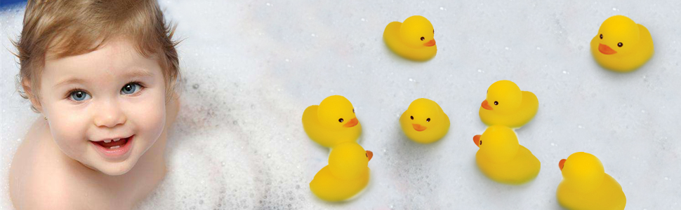 2 Packs Best for Kids and Adults Juia Rubber Duck - Shine and Squeak Coolly