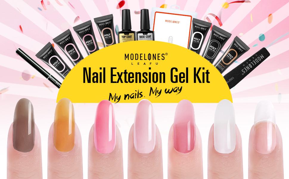 Modelones polygel nail kit nail extension gel builder gel