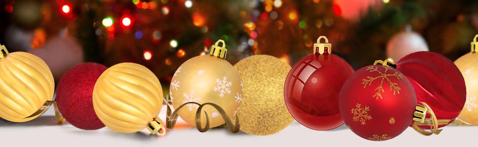 24Pcs//box 40mm Christmas tree decor ball bauble party hanging ball ornamentYECF