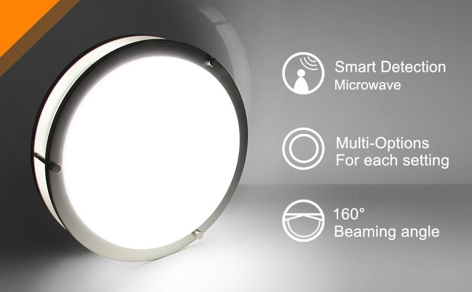 Amazon.com: Lineway - Lámpara de techo LED con sensor de ...