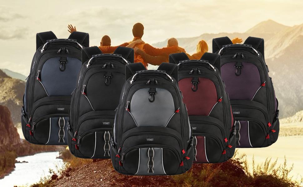 school laptop backpack / tsa scansmart backpack / black roomy backpack / 17 inch laptop bag