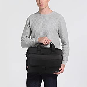 Mens Briefcase, 17 inch Laptop Bag, Expandable Large Capacity Computer Bag for Women & Men