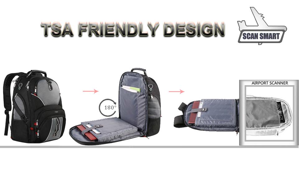 Travel Laptop Backpack, Large Computer Backpack Bag Fits 17 inch Laptop