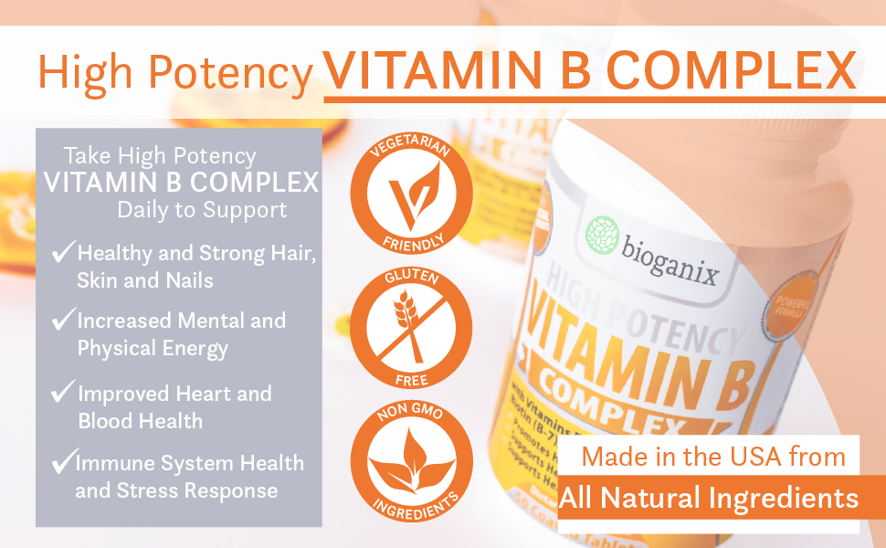B Complex Vitamins for anti anxiety depression stress mood energy focus clarity attention metabolism