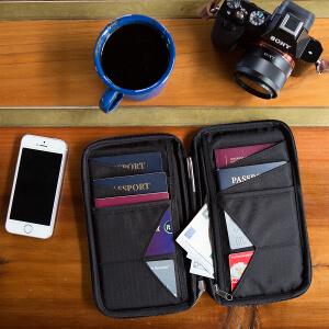 Travel Wallet & Family Passport Holder w/RFID Blocking- Document Organizer Case