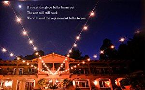 Amazon Com Brightown 100ft G40 Globe String Lights With