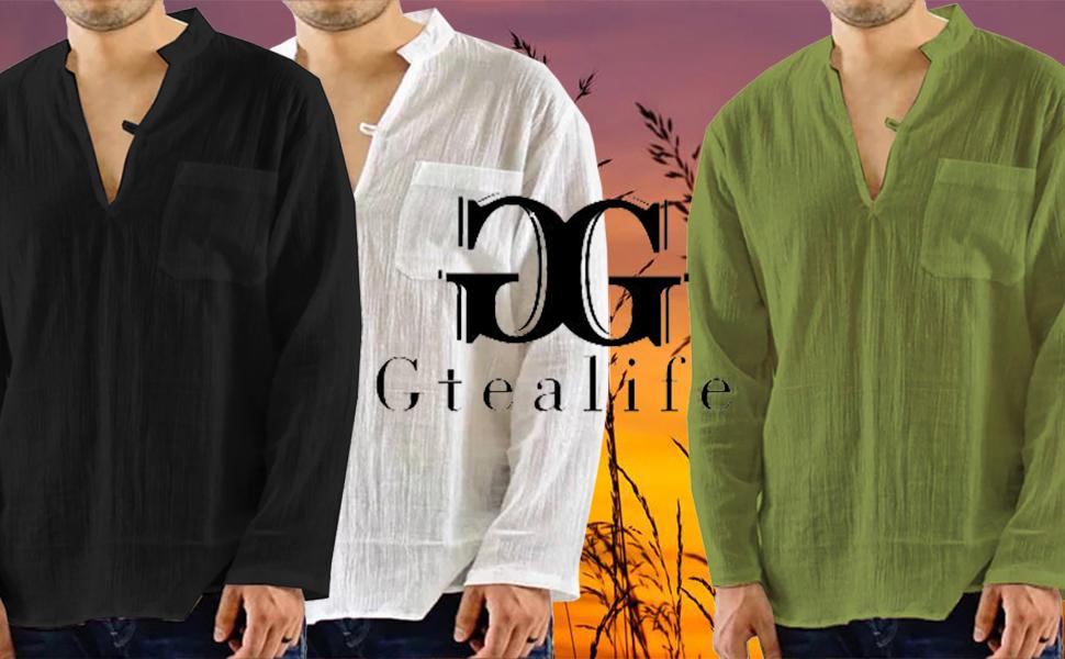 US Fashion Men/'s Loose v Neck Long Sleeve Summer Tee T-shirt Casual Tops Blouse