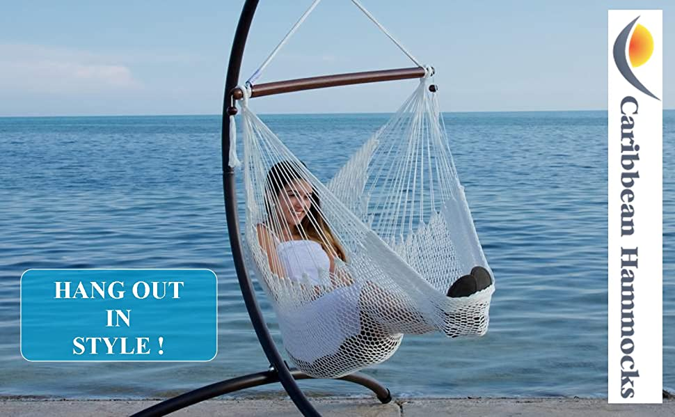 Medium image of caribbean hammock chair with footrest