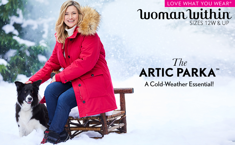 artic parka jacket coat cold weather winter snow outerwear comfortable warm soft
