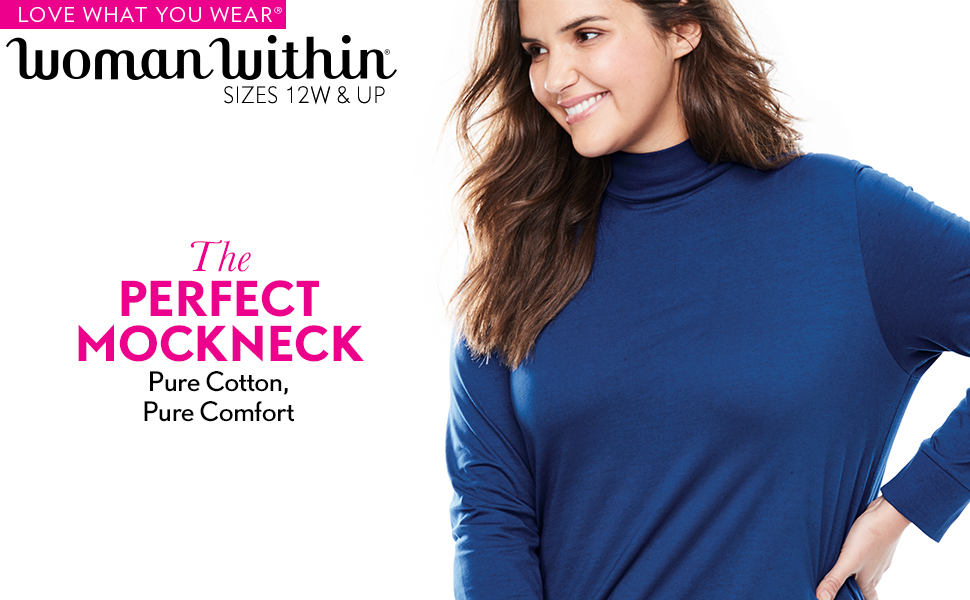 perfect mockneck pure cotton comfort turtleneck fall winter long sleeve base layer cold weather warm