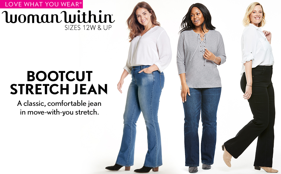bootcut stretch jean classic comfortable denim pants casual business trousers slacks comfy soft