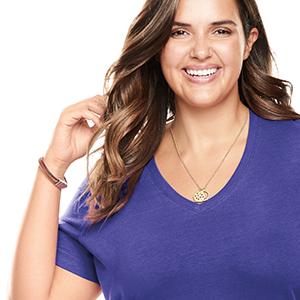 Purple V-Neck
