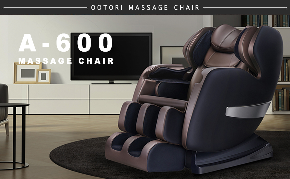 ootori A-600 s-track zero gravity full body massage chair with vibrating heat and foot rollers