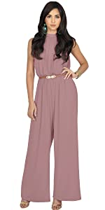 25c6e6699638 ... Womens Sexy Sleeveless Wide Leg Pants Cocktail Pantsuit Jumpsuit Romper  ...