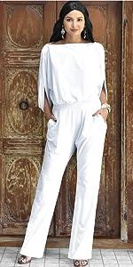 Womens One Off Shoulder Short Sleeve Piece Jumpsuit Pant Suit Romper
