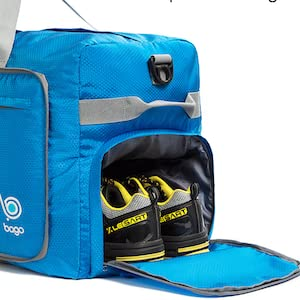 Foldable collapsible duffle bag for travel
