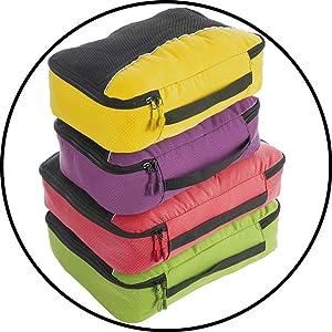 10279ecac Amazon.com | Bago Travel Bag Set for Family - Light & Foldable ...