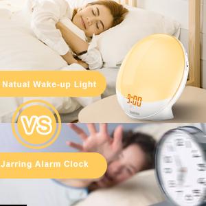 Natural wakeup light alarm clock