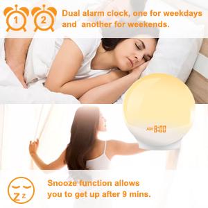 Dual alarm colck