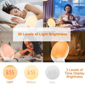 Light level and LCD display lightness setting