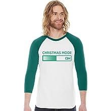 christmas mode on raglan mens