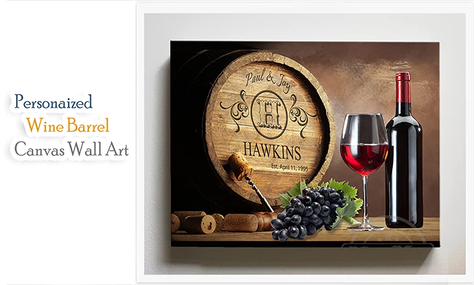 Amazon.com: Personalized Napa Valley Wine Barrel Wall Decor ...