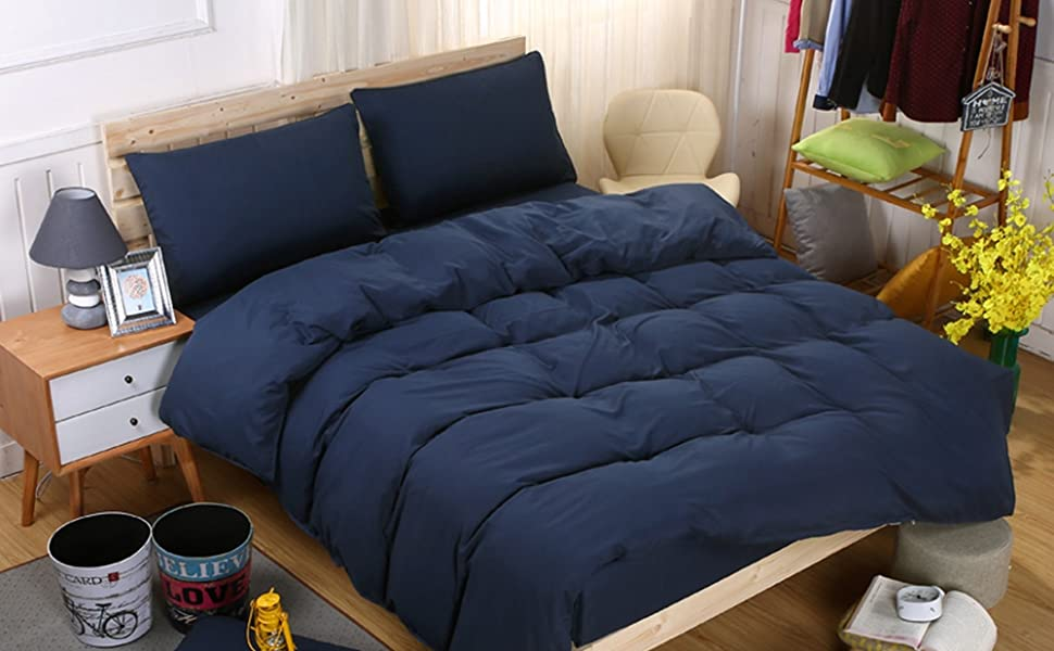 modern duvet cover navy blue duvet cover queen set dusty blue bedding king