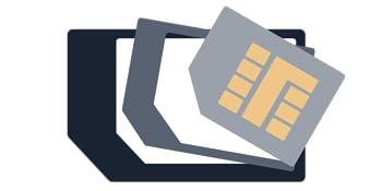 Precut 3 in one mini, micro, & mini Prepaid SIM cards