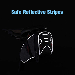 Safe Reflective Stripes for bicycle seat bag