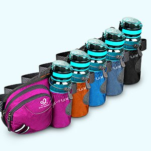 fanny pack with water bottle