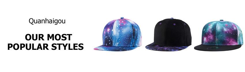 8a9f171b16b Quanhaigou New Snapback Hat - Men Women Flat Bill Visor Caps Hip-hop ...