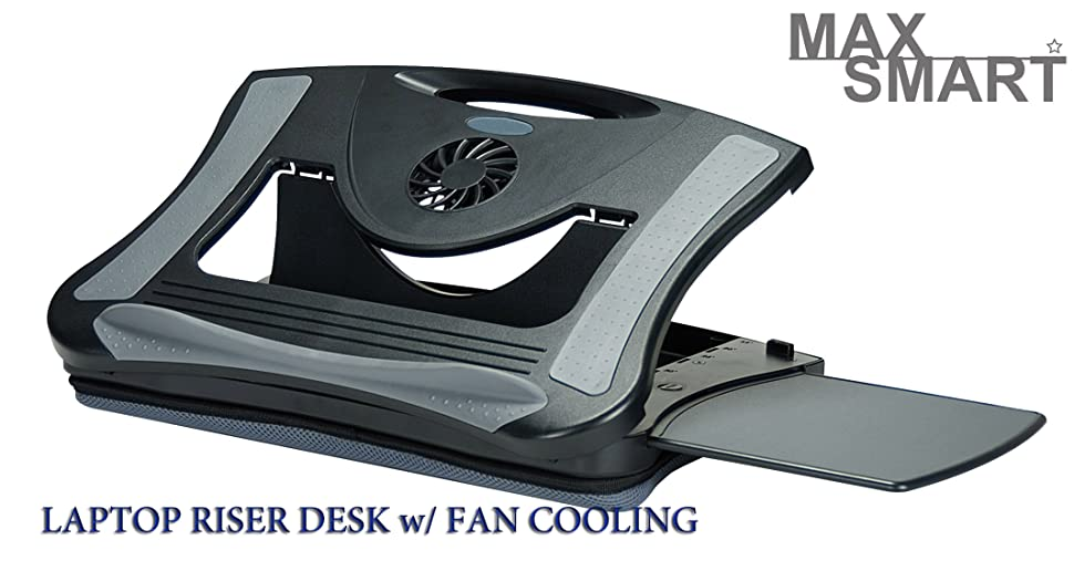 this ergonomic lapboard fits tablet notebook ipad and laptop builtin cooling fan helps displace your laptop heat bottom removable air mesh