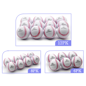 PHINIX Sports Baseballs for Kids Teenager Players Training and Recreational Leather Balls One Dozen
