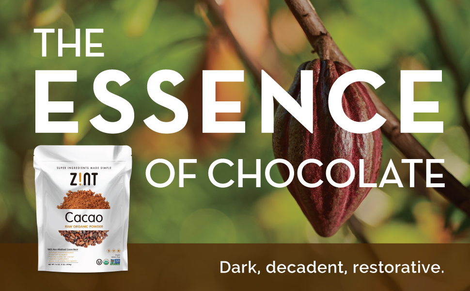 organic cocoa powder cacao essence of chocolate sugar-free natural