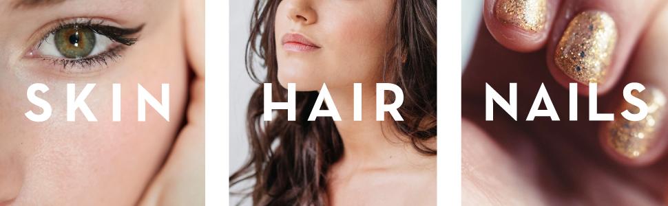 skin hair nails beauty protein supplement powder