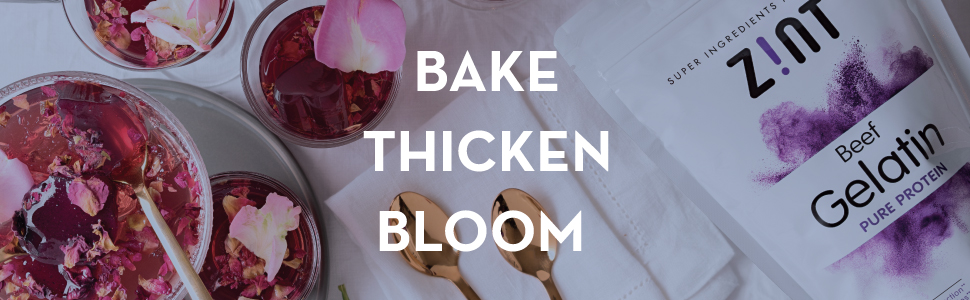 bake thicken bloom beef gelatin thickening agent for cookies jello gummies