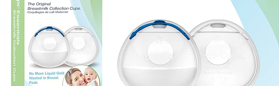 Original Breastmilk Collection Cups Lacti-Cups with plugs and patented barrier catches breastmilk