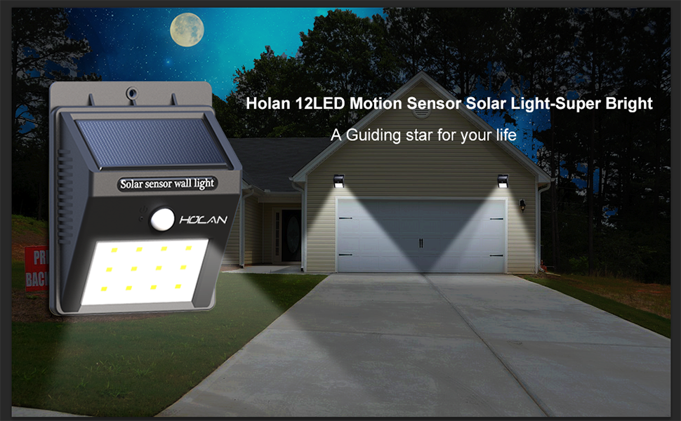 12 LEDs Outdoor Solar Motion Sensor Light
