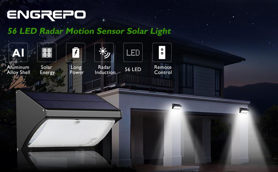 Amazon Com Engrepo 56 Led 1000 Lumens Solar Lights