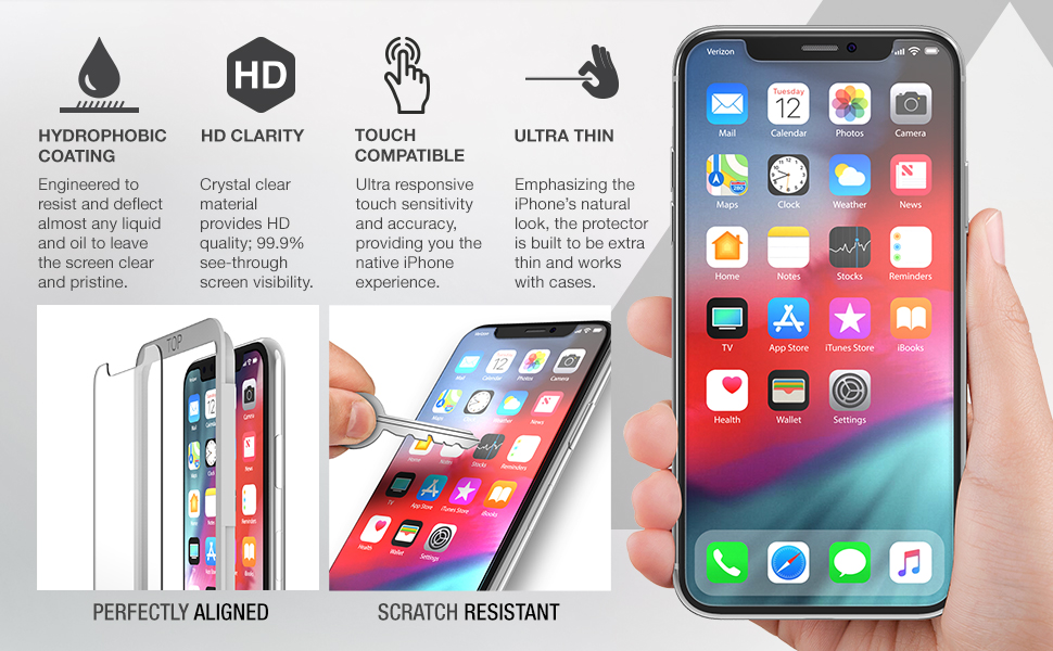 XDesign iPhone 6.1-inch tempered glass