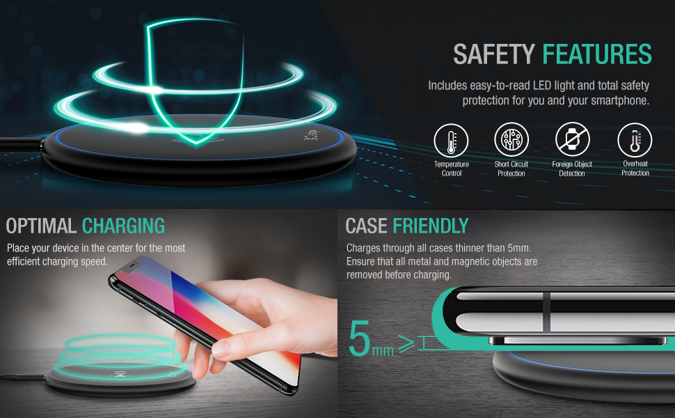 Wireles-Charger for iPhone & Galaxy