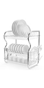 3 Tier dish drying rack