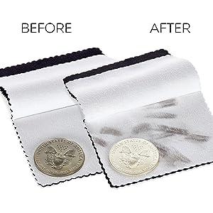 Microfiber Jewelry polishing cleaning cloth
