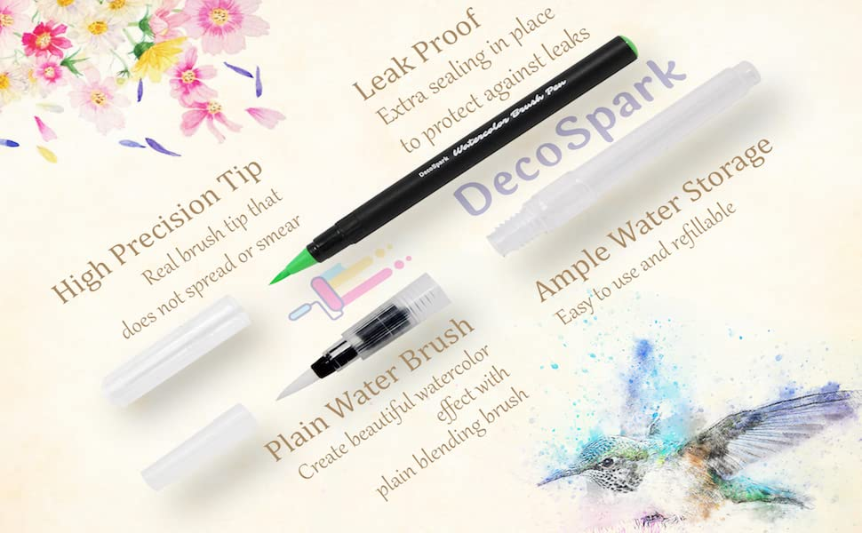 leak proof water brush pen refillable washable ink based caligraphy